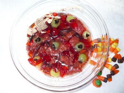 BLOOD AND GUTS Halloween dessert