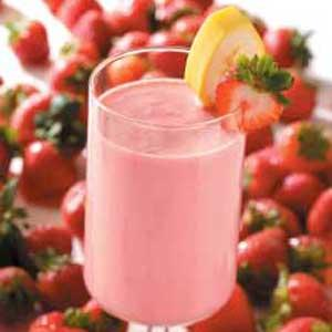 strawberry smoothie is quite filling. However you can serve it with ...