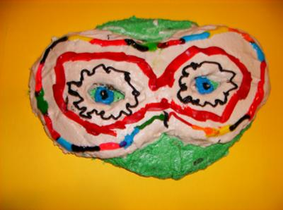 Little Green Monster Cookie with Masquerade Mask