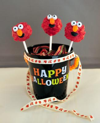 The Cutest Monster Elmo Cake Pops