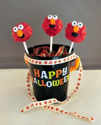 The Cutest Monster Elmo Cake Pops