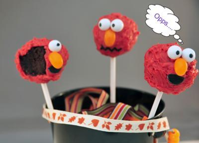 Monster Elmo Cake Pops