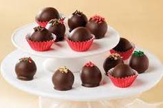 Oreo Truffles when they are finished and designed