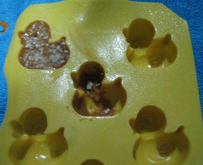 Milk Chocolate duck with cracker Flakes