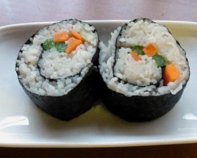 somen noodle sushi rolls