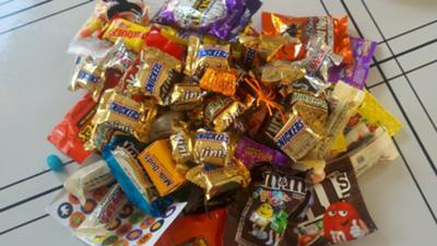 Too much Halloween candy!