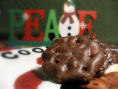 Thin Mint Christmas Cookies