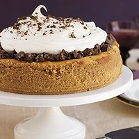 Autumn's chocolate cheesecake with a crunch