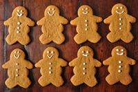 For my gingerbread men  I used frosting to decorate.