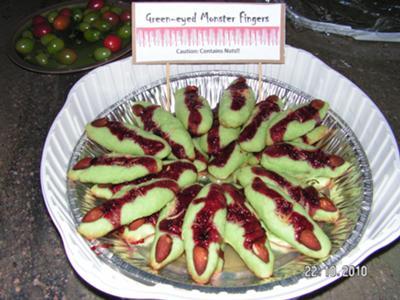 Green-eyed Monster Finger Cookies