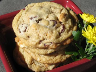 3 C's Cookies (cashews, chocolate and cranberries)