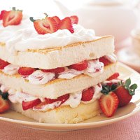 Strawberry-Angel Food Cake...this picuture is taken by me!